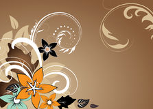 Abstract floral background with free space your te Stock Photo