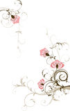 Abstract floral background with free space your te. Xt. vector illustration Royalty Free Stock Photography