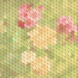 Abstract floral background with geometric elements Royalty Free Stock Photos