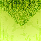 Abstract floral background in green Royalty Free Stock Photography