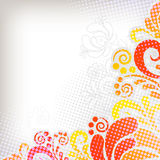 Abstract floral background in grunge style Stock Photography