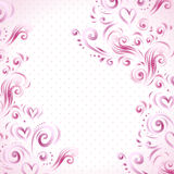 Abstract floral background with hearts in pink. This is file of EPS10 format Royalty Free Stock Photography
