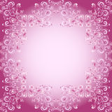 Abstract floral background with hearts in pink Stock Images