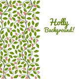 Abstract floral background with holly Royalty Free Stock Photo