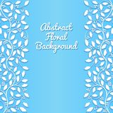 Abstract floral background with holly Stock Images