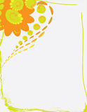 Abstract floral background illustration. With copy space for text vector illustration