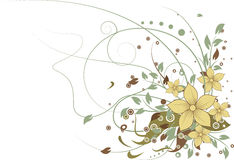 Abstract floral background. Illustration of Abstract floral background Royalty Free Stock Image