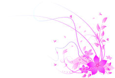 Abstract floral background. Illustration of Abstract floral background Royalty Free Stock Images