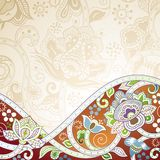 Abstract Floral Background. Illustration of abstract floral background in asia style Royalty Free Stock Images