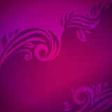 Abstract floral background with leaves Stock Images