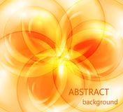 Abstract floral background on a orange background. Abstract floral background with an orange abstract flower on a orange background royalty free illustration