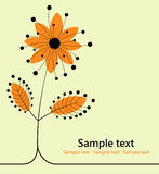 Abstract floral background. Orange flower Stock Images