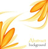 Abstract floral background on a white background. Abstract floral background with an orange abstract flower on a white background vector illustration