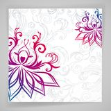 Abstract floral background with oriental flowers. Abstract vector floral background with oriental flowers royalty free illustration