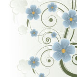 Abstract floral background with place for text Royalty Free Stock Photo