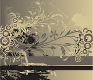 Abstract floral background with place for your tex. T Stock Photo