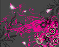 Abstract floral background with place for your tex Stock Images