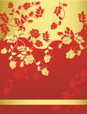 Abstract floral background with place for your tex. T Stock Photography