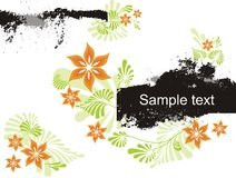 Abstract floral background with place for your tex Stock Photo
