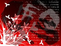 Abstract floral background in red tones Stock Images