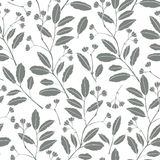 Abstract floral background. Seamless monochrome pattern with han Royalty Free Stock Images