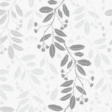 Abstract floral background. Seamless monochrome pattern with han Royalty Free Stock Photos