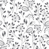Abstract floral background. Seamless monochrome pattern with han Royalty Free Stock Photography