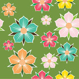 Abstract floral background. Seamless pattern. Royalty Free Stock Photo