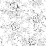 Abstract floral background. Seamless  abstract floral background with roses Royalty Free Stock Photography