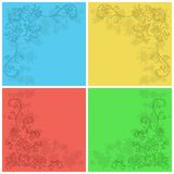 Abstract floral background, set Stock Images