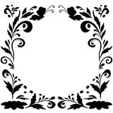Abstract floral background, silhouettes Stock Image