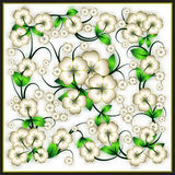 Abstract floral background with spring ornament Stock Images