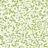 Abstract floral background. Spring seamless  pattern with hand d Royalty Free Stock Image