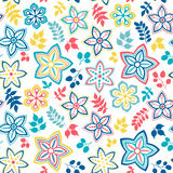 Abstract floral background, summer theme seamless pattern, vecto. R wallpaper, summer texture, wrapping with flowers, spring and summer theme for your design Stock Photography