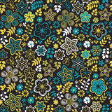 Abstract floral background, summer theme seamless pattern, vecto Royalty Free Stock Images