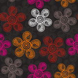 Abstract floral background, summer theme seamless pattern, vecto Stock Photography