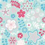 Abstract floral background, summer theme seamless pattern, vecto. R wallpaper, summer texture, wrapping with flowers, spring and summer theme for your design Royalty Free Stock Image