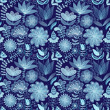 Abstract floral background, summer theme seamless pattern, vecto. R wallpaper, summer texture, wrapping with flowers, spring and summer theme for your design Royalty Free Stock Photo