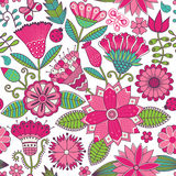 Abstract floral background, summer theme seamless pattern,  wall Royalty Free Stock Photo