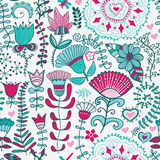 Abstract floral background, summer theme seamless pattern, wallp Royalty Free Stock Image