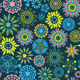 Abstract floral background, summer theme seamless pattern, wallp Stock Image