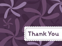 Abstract floral background with thankyou text Royalty Free Stock Image