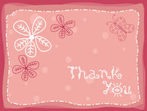 Abstract floral background with thankyou text Stock Images