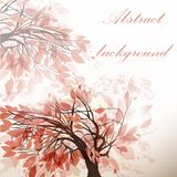 Abstract floral background with tree Stock Photography