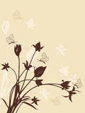 Abstract floral background with tulips Stock Image