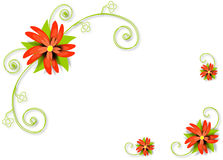 Abstract floral background. Vector. Royalty Free Stock Photography