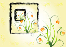 Abstract floral background. Vector. Royalty Free Stock Photo