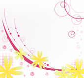 Abstract floral background. Vector. Stock Photos