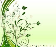 Abstract floral background vector Stock Photo
