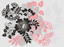 Abstract floral background, vector Royalty Free Stock Images